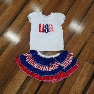 Patriotic outfit 12-18 months
